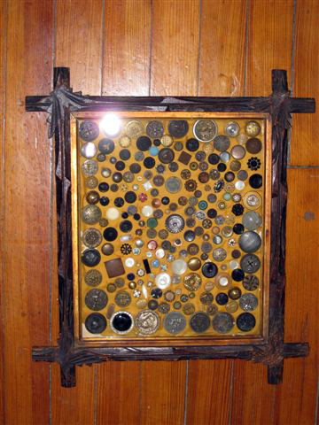 antique button collection in customers antique framelg